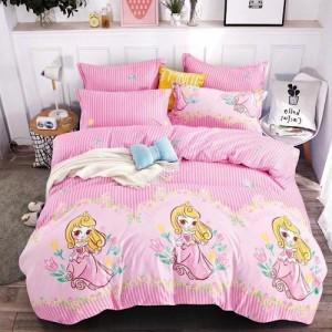 4 Pieces Size Size 3D Princess Design Bedding Set Without Filler