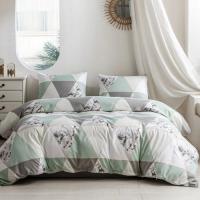 King Size 6 Pieces Geometric Design Duvet Cover Set Without Filler