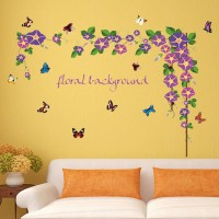 Daffodil Butterfly Wall Stickers For Bedroom Living Room