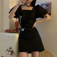Square Neck Party Wear Women Fashion Dress
