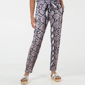 Narrow Bottom Vintage Style Women Fashion Trouser Pants - Brown