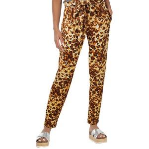 Narrow Bottom Vintage Style Women Fashion Trouser Pants - Yellow