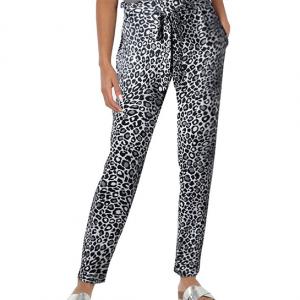 Narrow Bottom Vintage Style Women Fashion Trouser Pants - Black