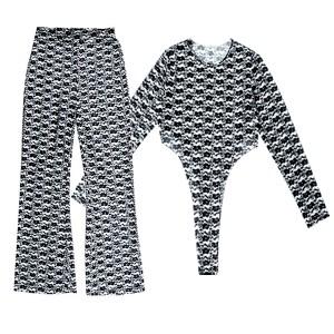 See Through Body Fitted Full Length Bodysuit
