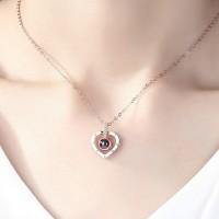 Women Memory Love Heart Necklace Pendant