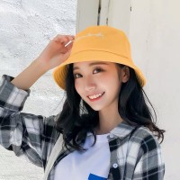 Women Fashion Sun Protection Single Sided Folding UV Hat - Yellow