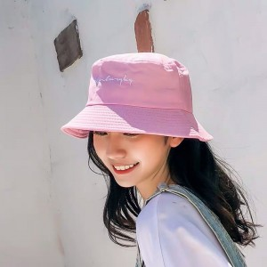 Women Fashion Sun Protection Single Sided Folding UV Hat - Pink