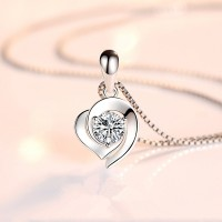 Cute Heart Shaped Pendant Necklace For Women