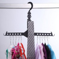 Multi-Functional Dual Hanger Folding Clothes Drying Hanger