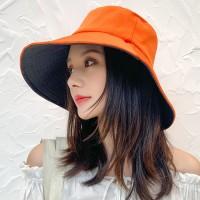Women Fashion Face Sun Protection UV Shading Hat - Orange