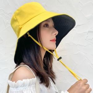 Women Fashion Face Sun Protection UV Shading Hat - Light Yellow