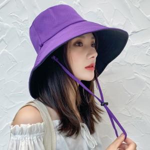 Women Fashion Face Sun Protection UV Shading Hat - Purple