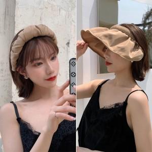 Simple Folding Multi Function Hair Card Type Sunscreen Cap - Khaki