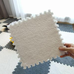 Soft Climbing Rug Split Joint For Luxury Kids Living Room Mat - White