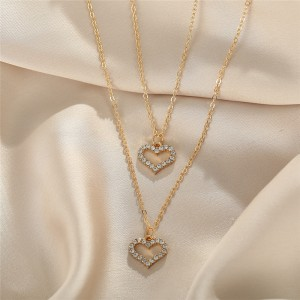 Crystal Patched Gold Plated Bridal Necklace