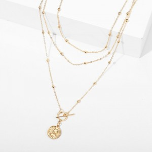 Gold Plated Hook Closure Women Fashion Necklace
