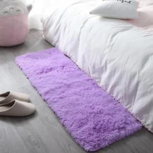 Furry Solid Color Solid Color Bedroom Mat - Purple