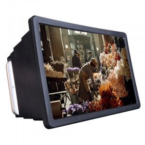 Mobile Phone Universal 3D HD Screen Magnifier - Black
