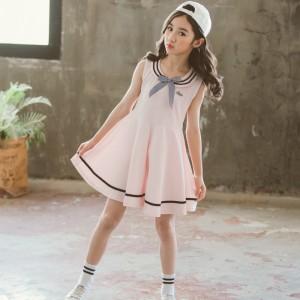 High Quality Fashion College Kids Skirt Dress - Light Pink
