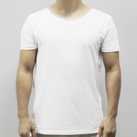 Round Neck Soft Fabric Casual Wear Men T-Shirt - White
