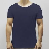 Round Neck Soft Fabric Casual Wear Men T-Shirt - Dark Blue