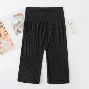 Slim Solid Thread Art Slim Shorts Underwear - Black
