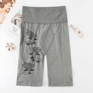Slim Solid Thread Art Slim Shorts Underwear - Gray