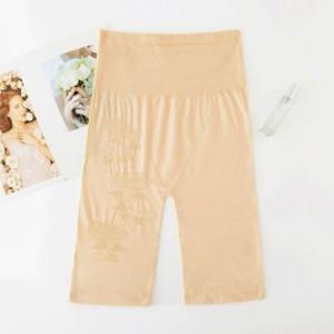 Slim Solid Thread Art Slim Shorts Underwear - Skin