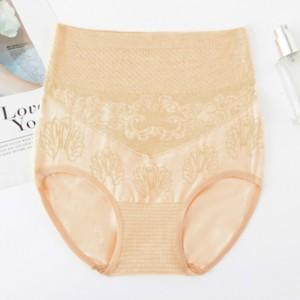 Thread Art Stretchable Elastic Underwear - Apricot