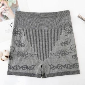 Thread Art Stretchable Elastic Shorts Underwear - Gray