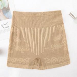 Thread Art Stretchable Elastic Shorts Underwear - Khaki