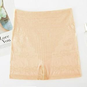 Thread Art Stretchable Elastic Shorts Underwear - Apricot