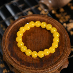 Beaded Spherical Decor Bohemia Bracelet - Yellow