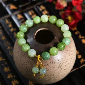 Marble Texture Spherical Beaded Bracelet - Green