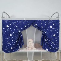 Bed Curtain For Lower Deck Single Bed Stars Design