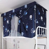 Galaxy Design Bed Curtain and Metal Frame For Upper Deck Single Bed