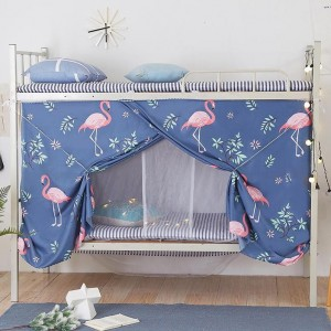 Bed Curtain For Lower Deck Single Bed Flamingo Design