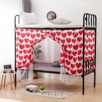 Bed Curtain For Lower Deck Single Bed Red Heart Design