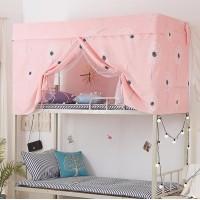 Dandelion Design Bed Curtain and Metal Frame For Upper Deck Single Bed