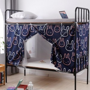 Bed Curtain For Lower Deck Single Bed Bunny Design