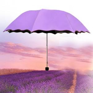 Rain Blossoms Sun Shade Block Umbrella - Purple