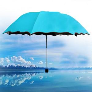 Rain Blossoms Sun Shade Block Umbrella - Blue