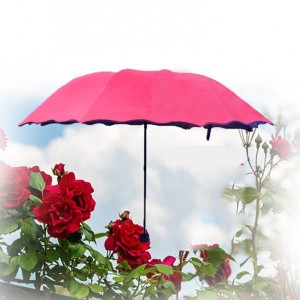 Rain Blossoms Sun Shade Block Umbrella - Rose