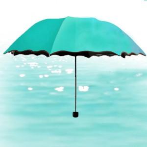 Rain Blossoms Sun Shade Block Umbrella - Sea Green