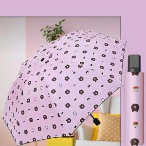 Printed Design Sun Protection Rain Umbrella - Pink