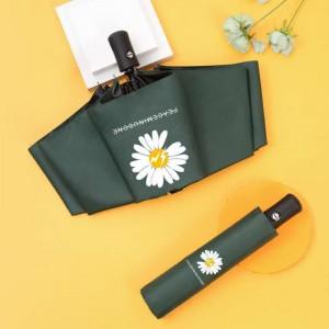 1 Piece  Daisy Sunshade Rain Automatic Umbrella - Green