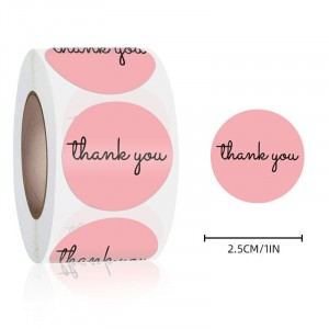 Unicorn Printed Thank You Wrapping Stickers Roll