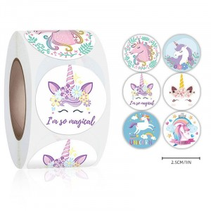 Unicorn Printed Thank You Wrapping Gift Stickers Roll