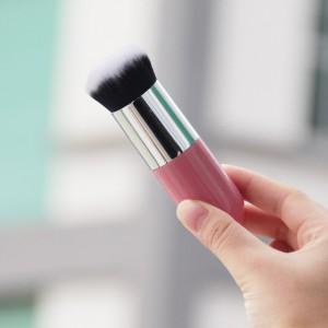 Soft Big Size Professional Cosmetics Makeup Brush - Pink Silver