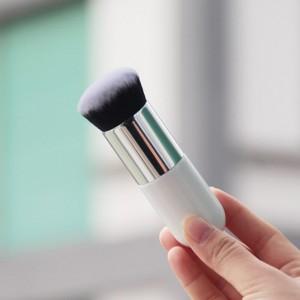 Soft Big Size Professional Cosmetics Makeup Brush - White Silver